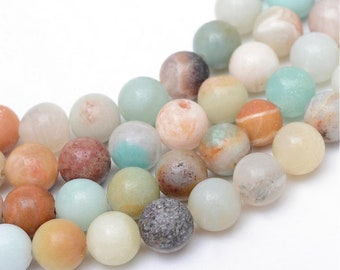 Strand Of About 80 Approx 15mm Long Frosted Semi Precious Gemstone Chip Beads