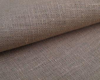 Light Brown, Pale Brown, Peanut Brown Linen Fabric