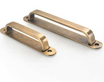 Brass drawer handles. 9.25 cabinet pulls that are perfect ...