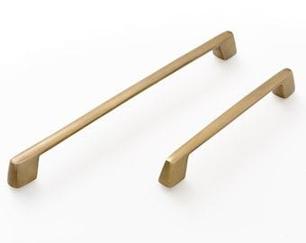 Kitchen brass handles. Drawer handles. Draw pull handles , antique Solid Brass. Long metal handles. Kitchen furniture, Brass handles