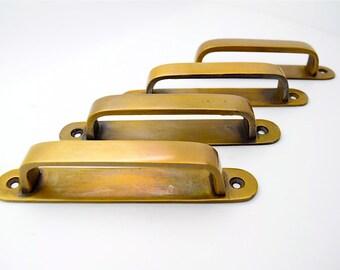 brass drawer handles, brass pulls, vintage drawer pull, cupboard drawer handles.Kitchen handles, pulls antique retro Solid Brass handles