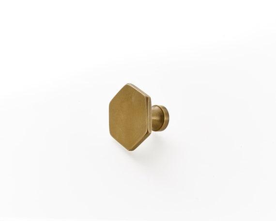 Zeshoekige Messing Lade Handgrepen Keuken Handgrepen Kast Handgrepen Deur Knoppen Metalen Grepen Messing Hardware