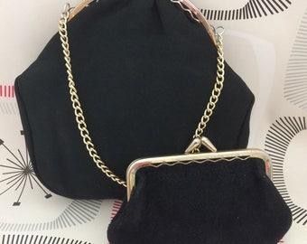 Vintage Black Evening Bag & Coin Purse