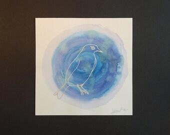 Wall Art - Mountain Bluebird Mixed Media