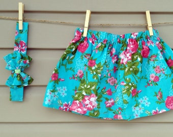 READY-to-GO/READYTOGO - skirt & headband - all - girl - floral print - skirt and headband - babyset - babygirl