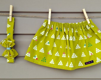 READY-to-GO/READYTOGO - skirt & headband - all - girl - geometric print - Skirt and headband - babyset - babygirl
