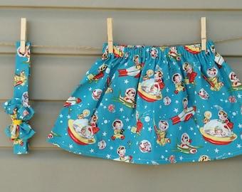 READY-to-go/READYTOGO - skirt & headband - all - girl - rocket retro - skirt and headband - babyset - babygirl - vintage space rocket
