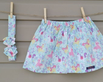 READY-to-go/READYTOGO - skirt and headband - all - girl - unicorns / Skirt and headband - set - girl - Unicorns