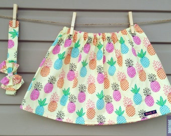 READY-to-go/READYTOGO - skirt & headband - all - girl - pineapple print