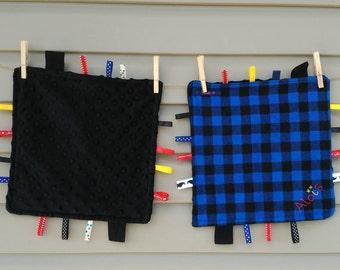 Doudou-customizable label - Customizable tag blanket - toy of awakening - developmental toys