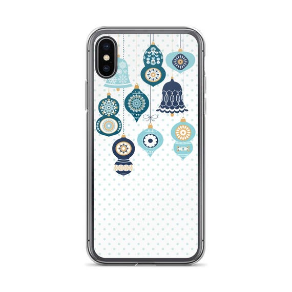 Christmas Iphone X Case.Christmas Iphone X Case Blue Christmas Ornament Iphone 7 Plus Case Holiday Iphone 8 Plus Case Winter Iphone 6 Plus Case Xmas Iphone 6s Case