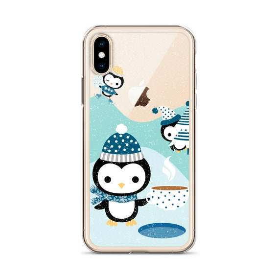 Christmas Iphone X Case.Cute Penguin Iphone 8 Plus Case Christmas Iphone X Case Winter Iphone 6 Plus Case Kawaii Clear Iphone 6s Case 7 Plus Transparent Xr Xs Max
