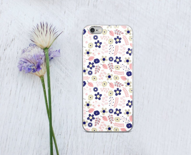 Floral Iphone X Case Cute Flower Iphone 8 Plus Case Girly Etsy