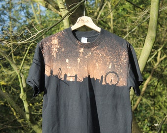 90's T-Shirt Grunge London Skyine T-Shirt Adult Unisex