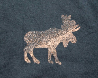 Moose Animal T-shirt Adult Unisex - Crew Style
