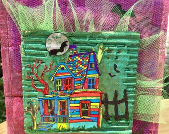 Spooky House, Halloween Box Decor