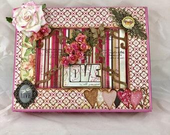 Pretty Pink Girlie Ladies Secret Storage Box