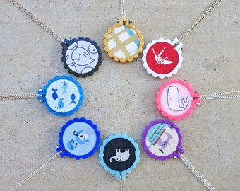 3D Printed Mini Scalloped Embroidery Hoop for Necklace or Brooch - HOOP ONLY