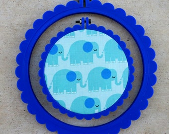 3D Printed Cobalt Scalloped Embroidery Hoop