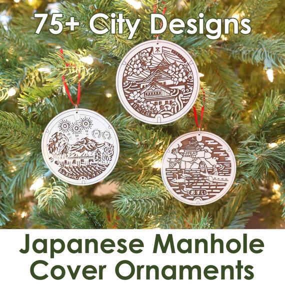 Japanese Manhole Ornaments Japan Christmas Ornament Manhole Etsy