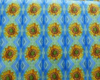 1 Yard Impressions Kaeli Smith for Elizabeth's Studios Sunflower Fabric