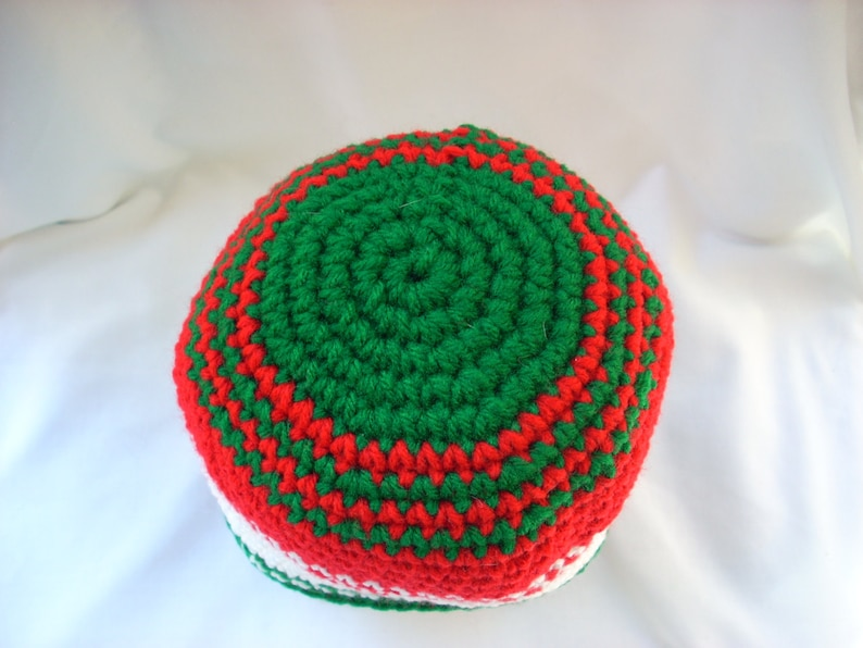 Holiday Winter Crochet Beanie Child Striped Christmas Hat