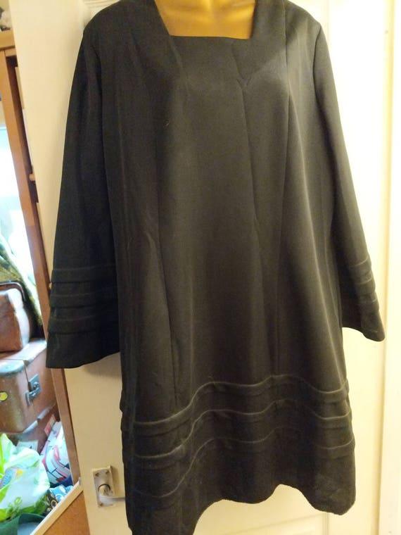 Goth black smock dress
