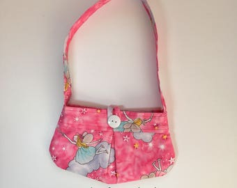 Little Girl Purse, Toddler Purse, Little Girls Bag, Girls Accessories, Girls Fashion, Kids Bag, Gift for Girls, Pink Sparkle Fairies