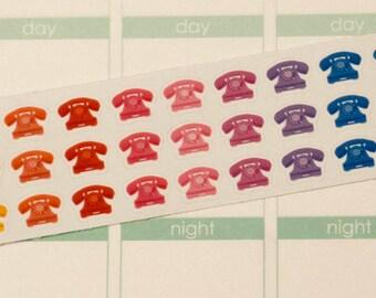 Retro Telephone Planner Stickers