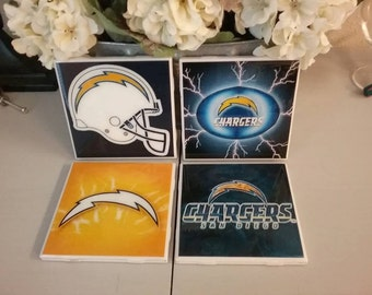 San Diego Chargers coaster set