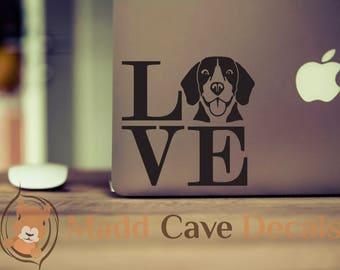Love Your Beagle Decal | Beagle Car Decal | Love Beagles | Beagle Decal For Yeti