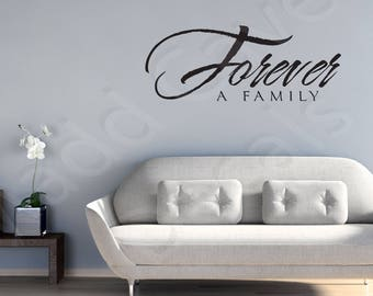 Forever A Family Home Vinyl Wall Decal Quote Art