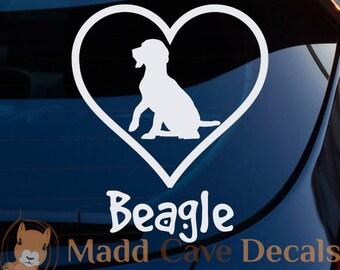 Love Your Beagle Decal | Love Beagles Decal | Beagle Car Decal | Beagle Decal For Yeti