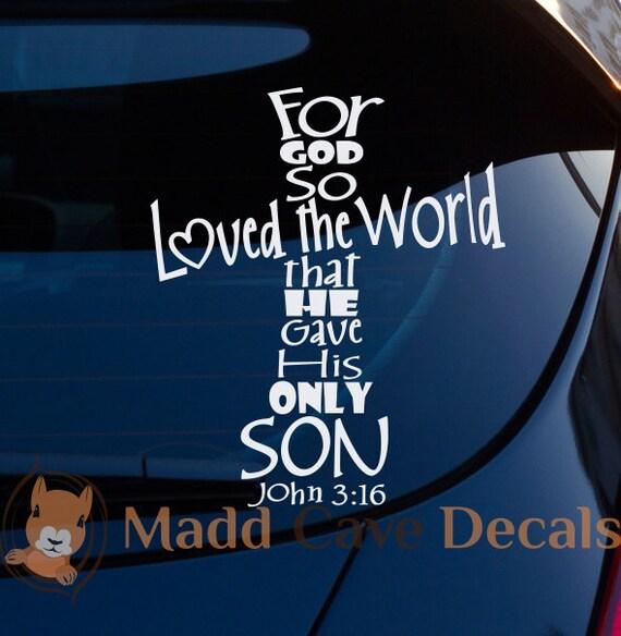 Proud To Be A Whosoever John 3:16 Christ Car Window Laptop Vinyl Decal Sticker