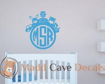 Toy Monogram Vinyl Wall Decal Sticker Kids Bedroom Nursery