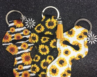 Chapstick Holder Blank Sunflower Chapstick Holder Keychain Lanyard Carmex Holder  Lanyard Keychain Lanyard
