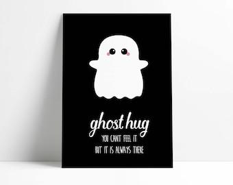 Postcard Ghost Hug