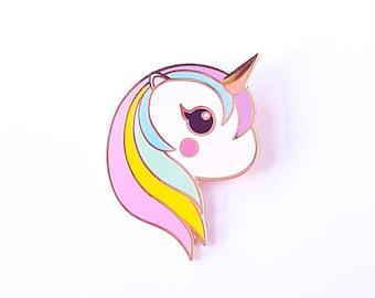 Unicorn rainbow pin | Cute Unicorn pastel enamel pin badge | Unicorn lapel pin kawaii |  Unicorn kawaii pin | Cute gift for her