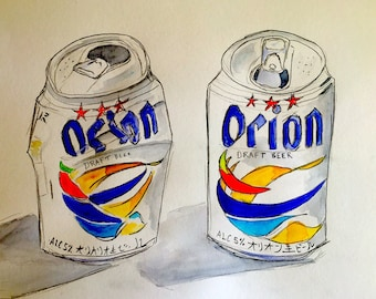 Orion Beer Cans, Okinawa, Japan