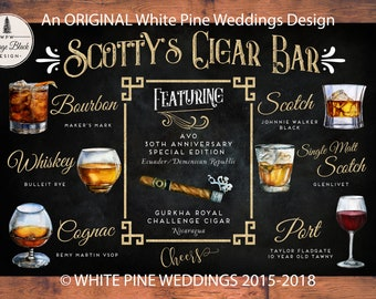 Whiskey Bar Sign Cigar Bar Sign Whiskey And Cigar Bar Sign Etsy