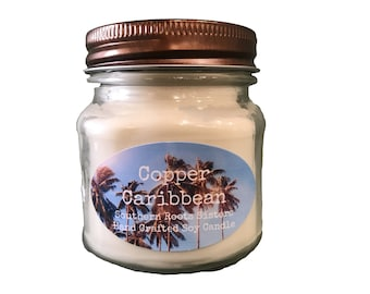 Copper Caribbean Soy Candle