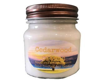 Cedarwood Citrus Soy Candle