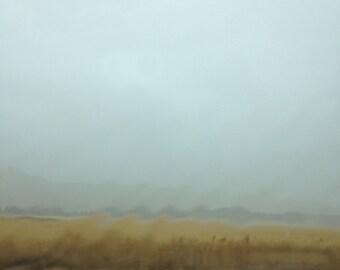 Smudged Australian landscape rain fine art photography