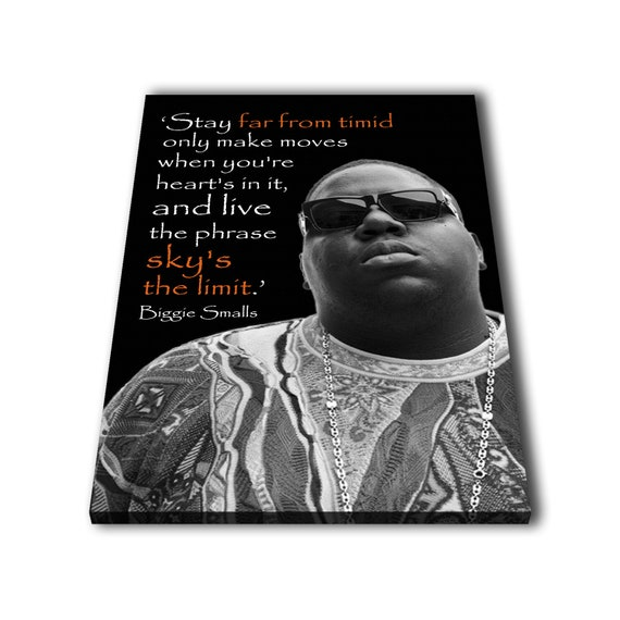 Biggie Small Quotes Custom Painting Print Canvas Wall Art Etsy