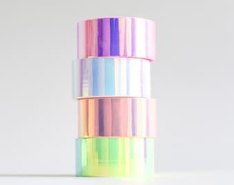 Holo tape, holographic masking tape, iridescent tape, holographic stationery