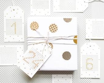 Holiday calendar kit, cross stitch Christmas, cross stitch kit, cross stitch modern, advent calendar kit, cross stitch beginner,DIY calendar