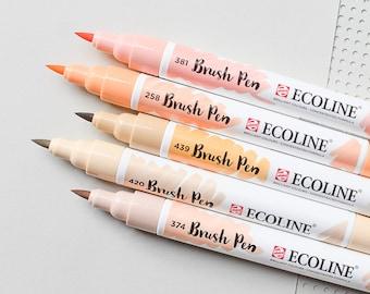 Liquid Watercolors, Ecoline Pens, Handlettering Pens, Ecoline Brush Pens, Brush Pens,Watercolor Brush Pens,Travel Watercolor,Watercolor Pens