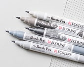 Ecoline Pens, Watercolor Pens, Brush Pens, Ecoline Brush Pens, Handlettering Pens, Watercolor Brush Pens,Liquid Watercolors,Calligraphy Pens