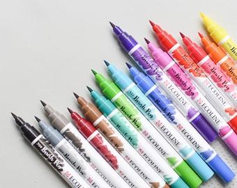 Handlettering Pens, Ecoline Brush Pens, Calligraphy Pens, Ecoline Pens, Watercolor Pens,Brush Pens,Watercolor Brush Pens,Liquid Watercolors