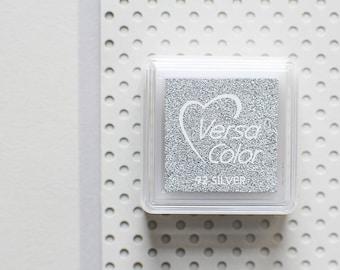 Silver ink pad, silver stamp pad, metallic ink pad, bronze ink pad, gold stamp pad, silver stamp, glitter stamp pad, metallic stamp pad